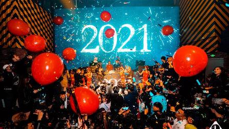 欢迎乘坐  2021 第一班次列车The One GZ 跨年主题派对
