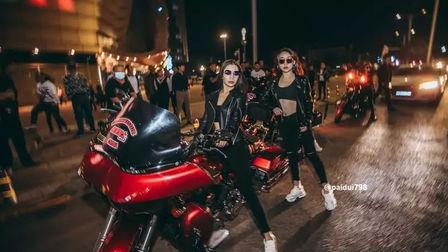 MIAMI/哈雷机车美女队出发   轰炸巡城  乌海迈阿密酒吧 国庆节机车主题派对