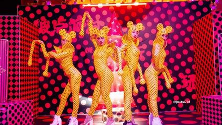 圣诞的钟声响起  点爆午夜狂欢 欧迪酒吧贵港店 圣诞节波点主题派对