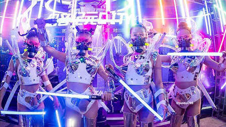 PARTYPARTY惠州#国庆节主题派对#  REVIEW/ 10.02-03 Cyber punk  穿梭都市未来的电音暴击