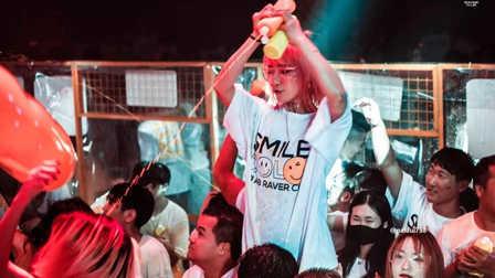 浙江宁波A8酒吧#表情主题派对 #  当微笑遇到颜料,原来会产生这样的化学反应