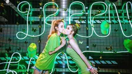 ATHENACLUB宜昌店 #荧光主题派对#『GREEN派对』 荧光邂逅音浪、绿色席卷时尚 精彩回顾!